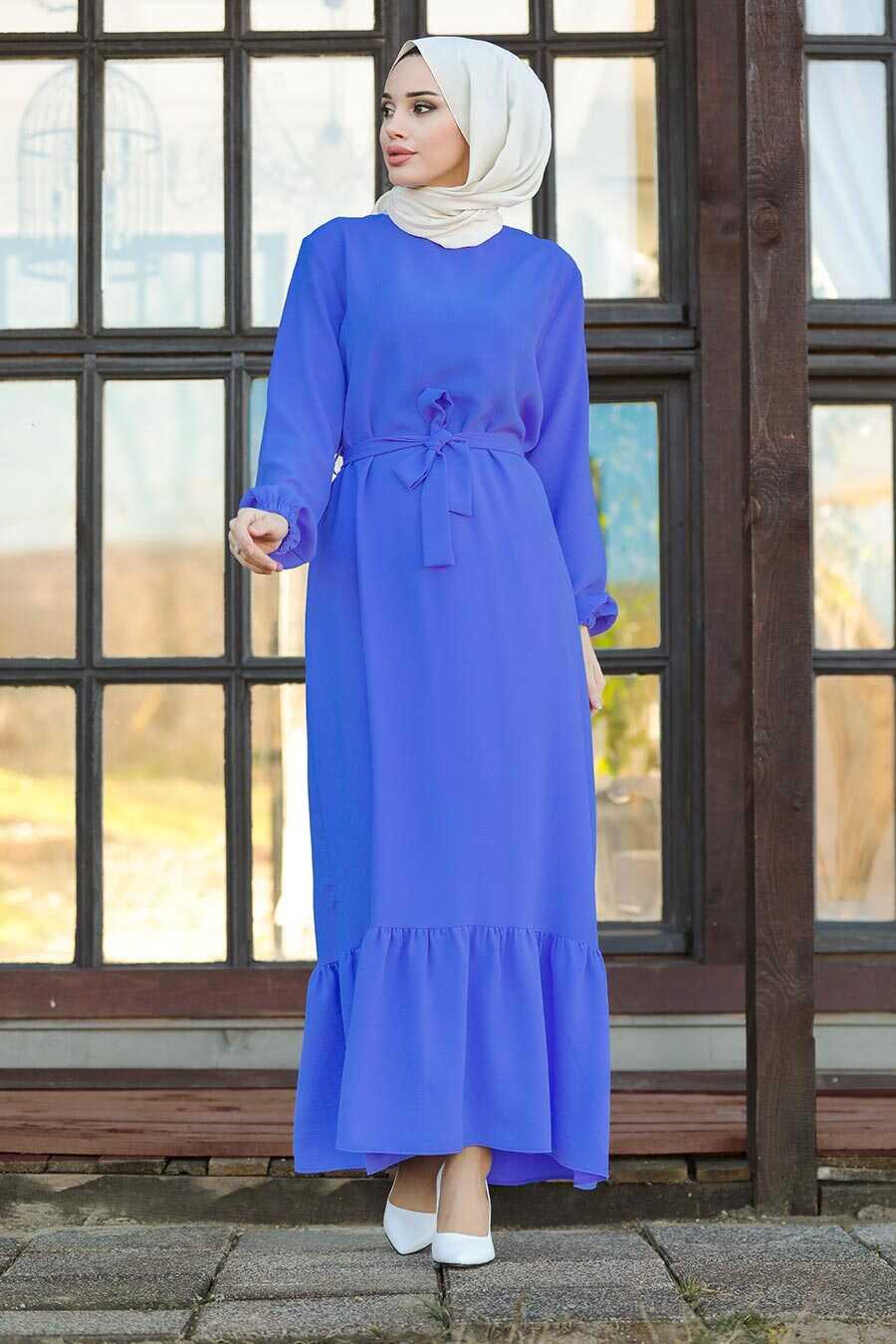 İndigo Blue Hijab Dress 1441IM
