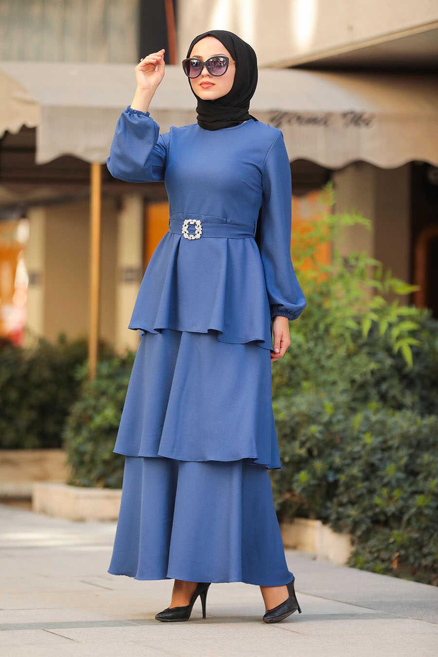 İndigo Blue Hijab Dress 5171IM