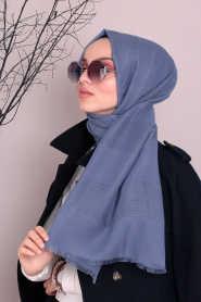 Neva Style - Indigo Blue Hijab Evening Dress 7484IM