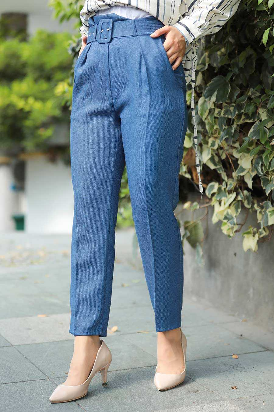 İndigo Blue Hijab Trousers 1068IM