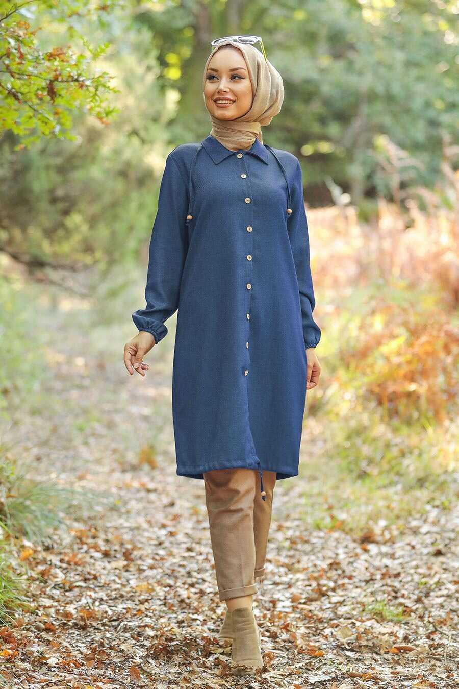 İndigo Blue Hijab Tunic 4640IM