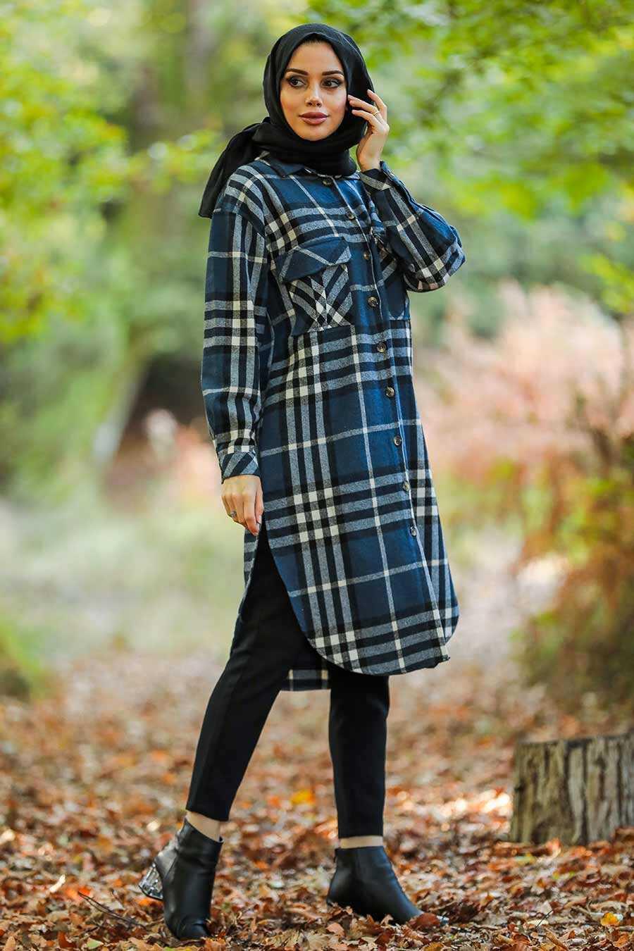 İndigo Blue Hijab Tunic 55790IM