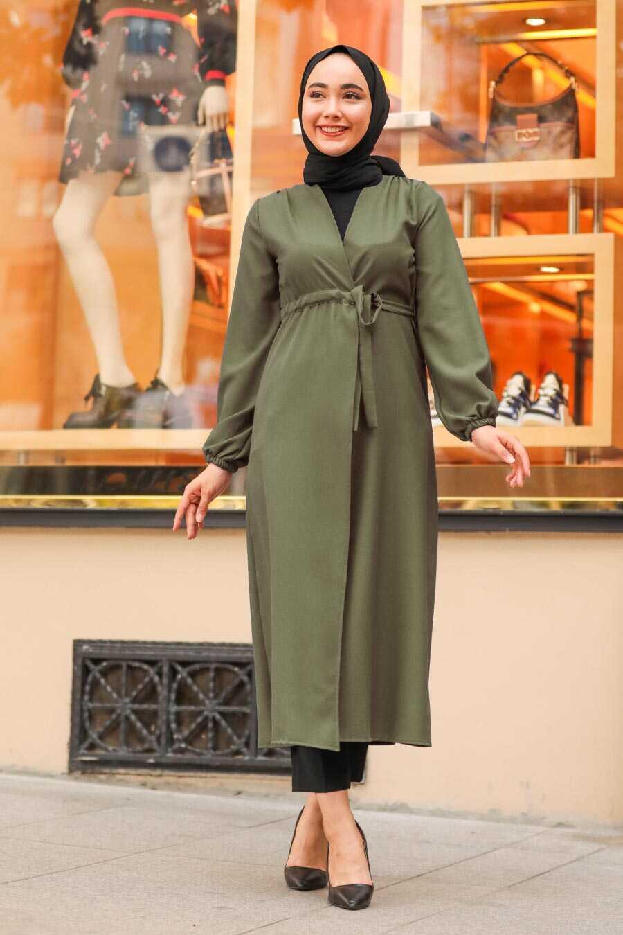 Khaki Hijab Coat 37450HK
