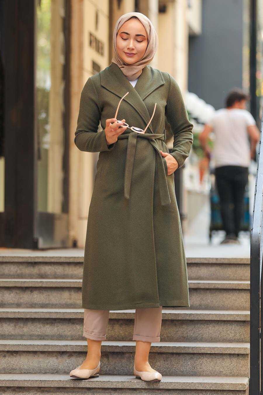 Khaki Hijab Coat 5173HK