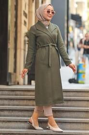 Khaki Hijab Coat 5173HK - Thumbnail