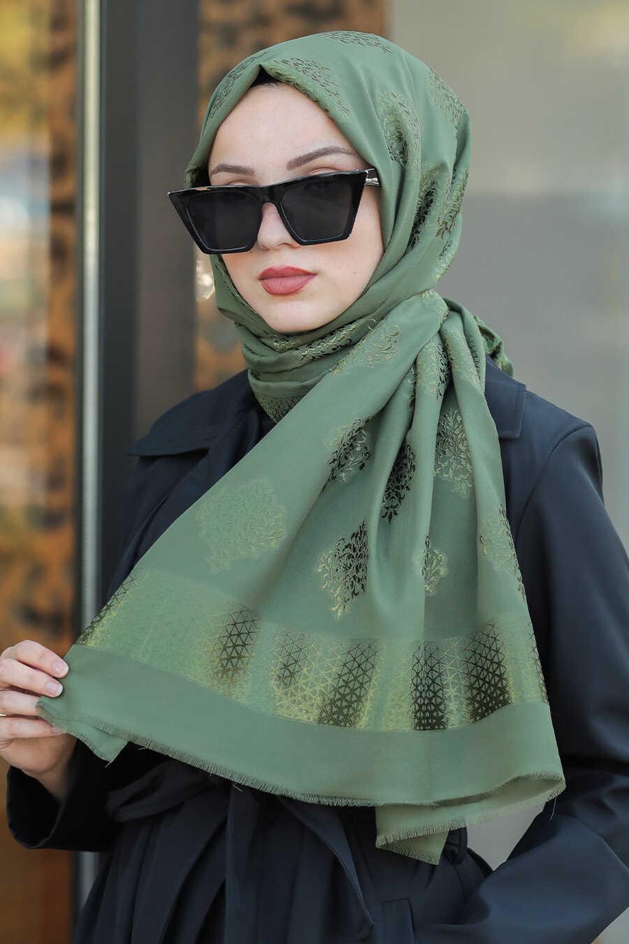Khaki Hijab Shawl 7531HK