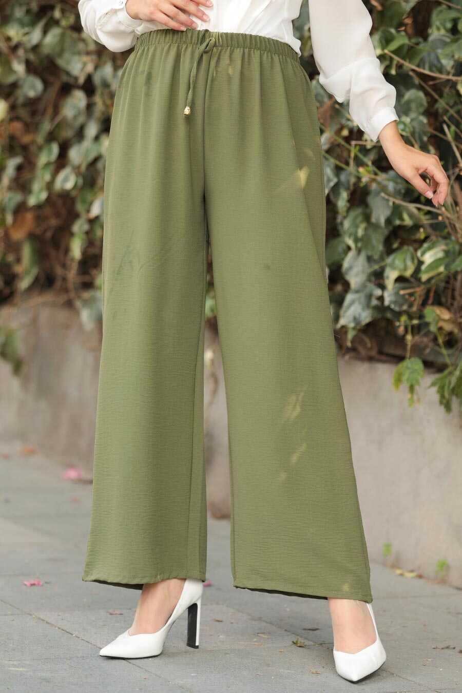 Khaki Hijab Trousers 1796HK