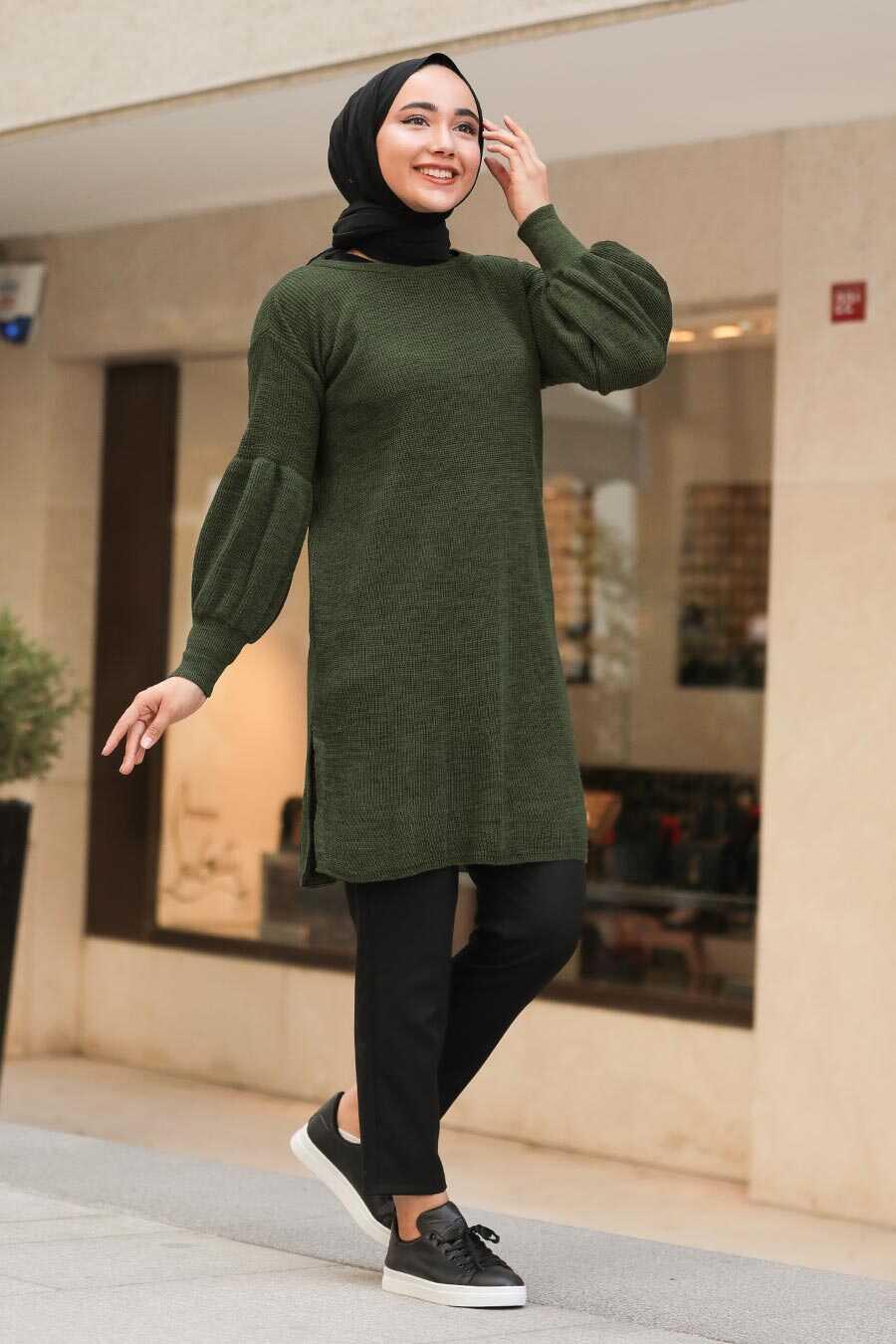 Khaki Hijab Tunic 17987HK