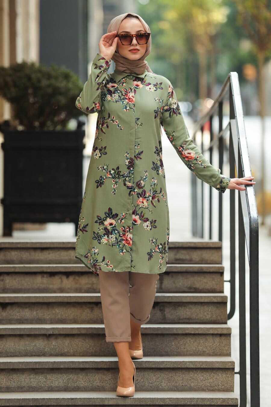 Khaki Hijab Tunic 20195HK