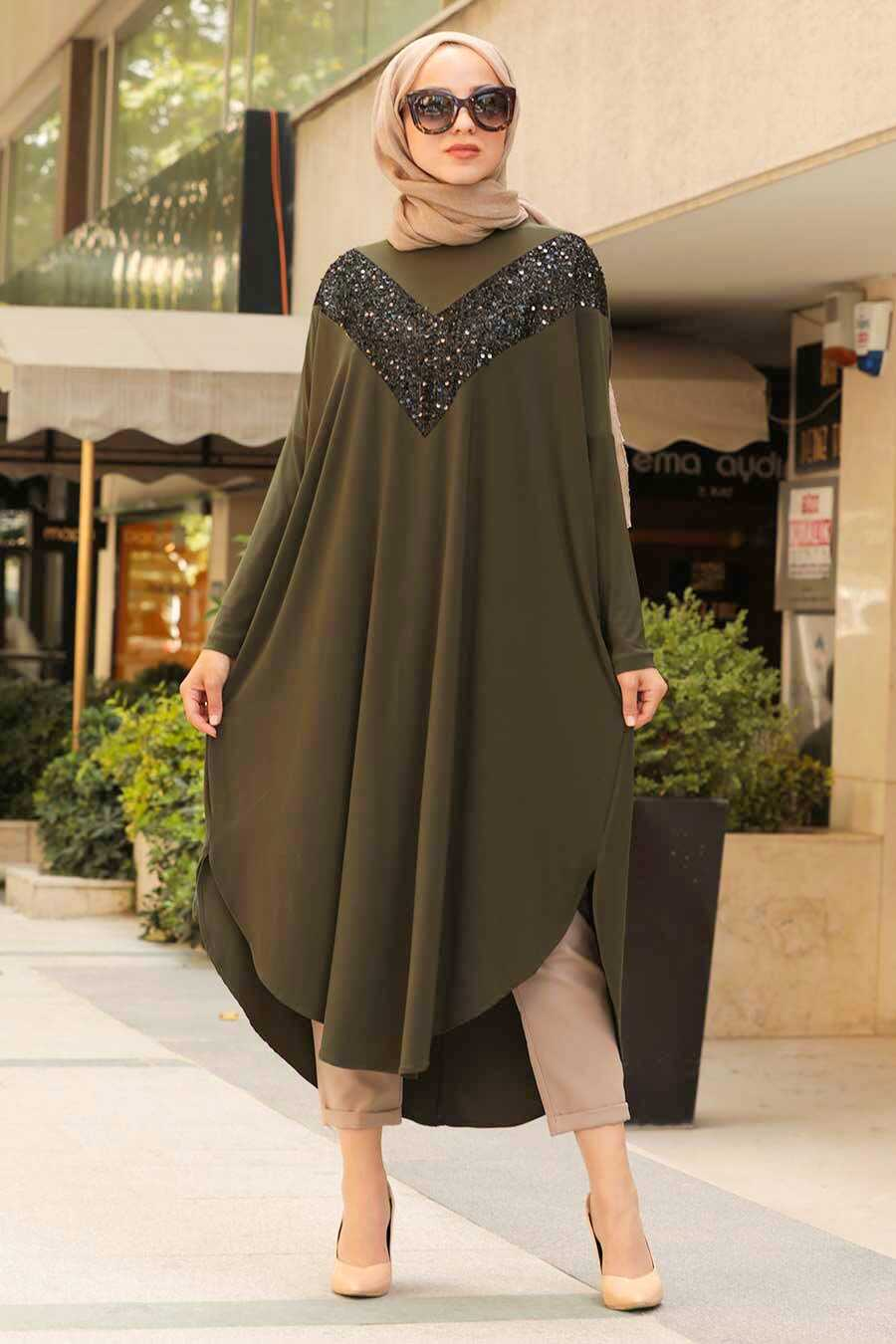 Khaki Hijab Tunic 400010HK