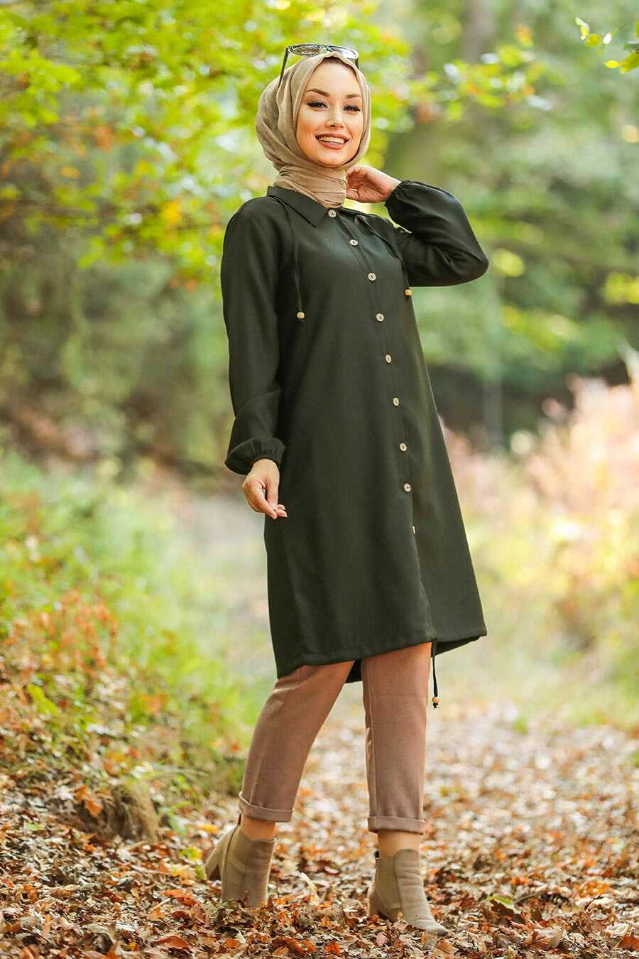 Khaki Hijab Tunic 4640HK