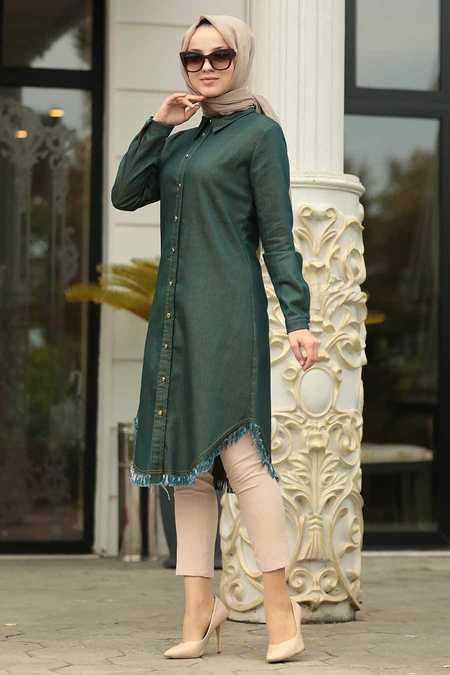 Khaki Hijab Tunic 46410HK