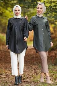 Khaki Hijab Tunic 5583HK - Thumbnail