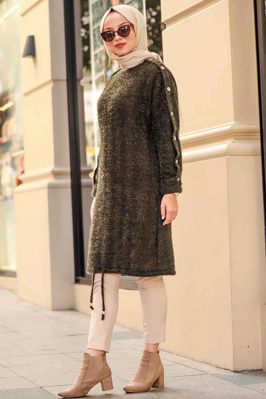 Khaki Hijab Tunic 5968HK