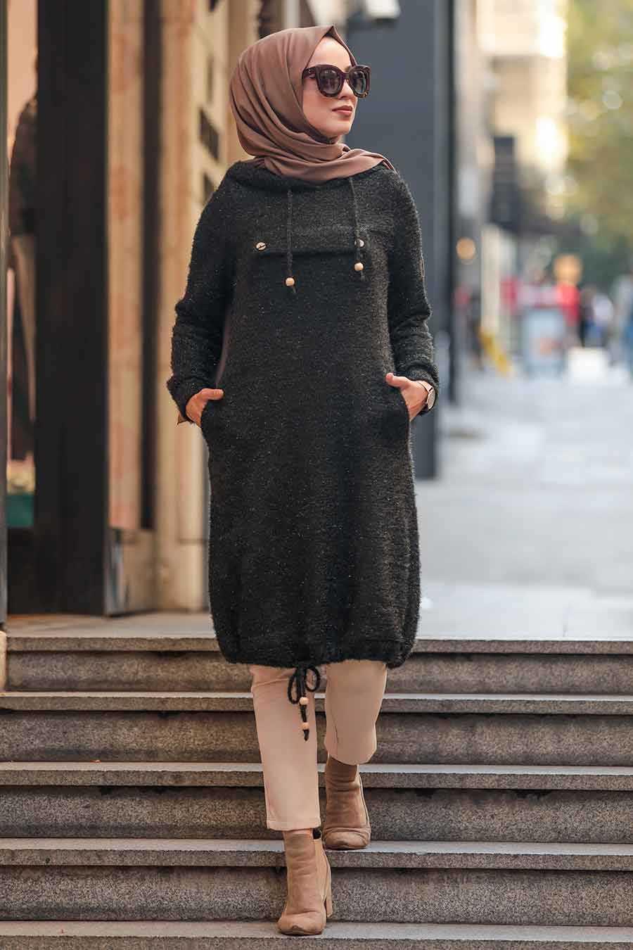 Khaki Hijab Tunic 5969HK