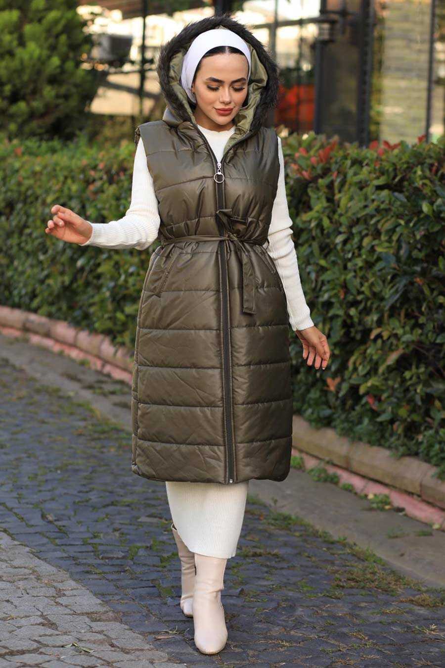 Khaki Hjab İnflatable Vest 15110HK