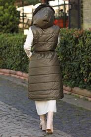 Khaki Hjab İnflatable Vest 15110HK - Thumbnail