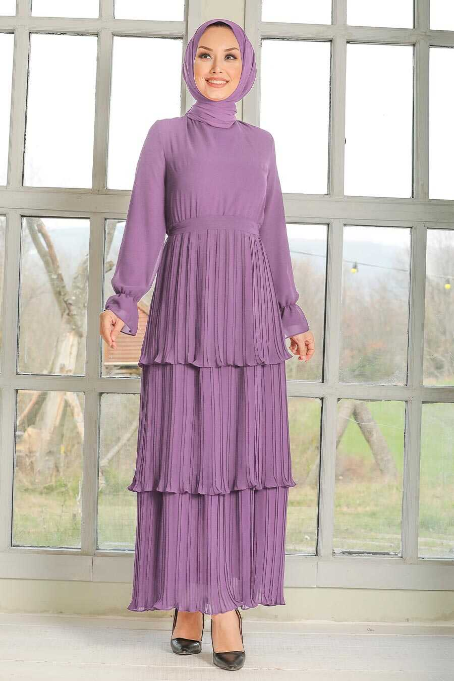 Lila Hijab Dress 2733LILA
