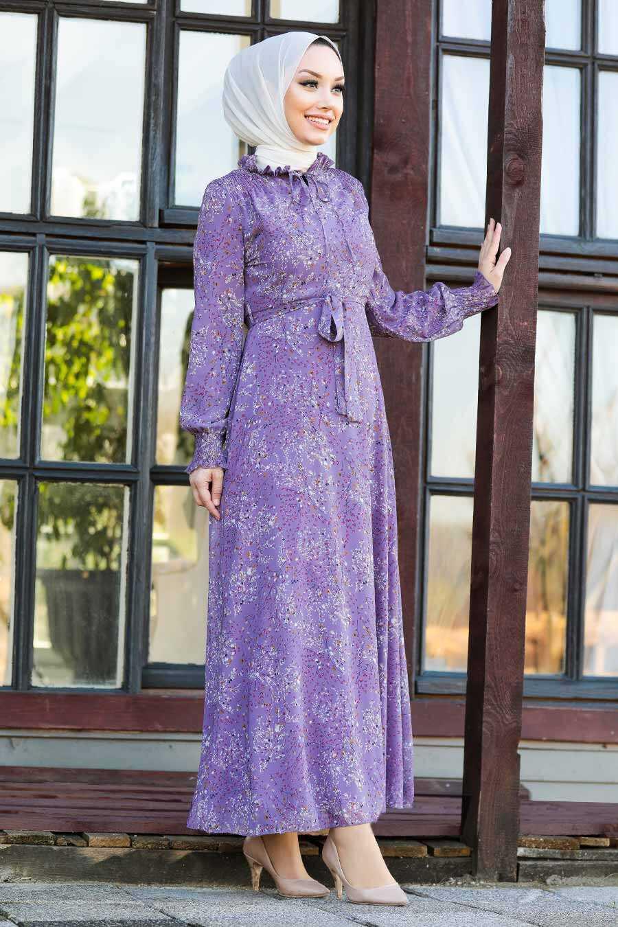 Lila Hijab Dress 27908LILA