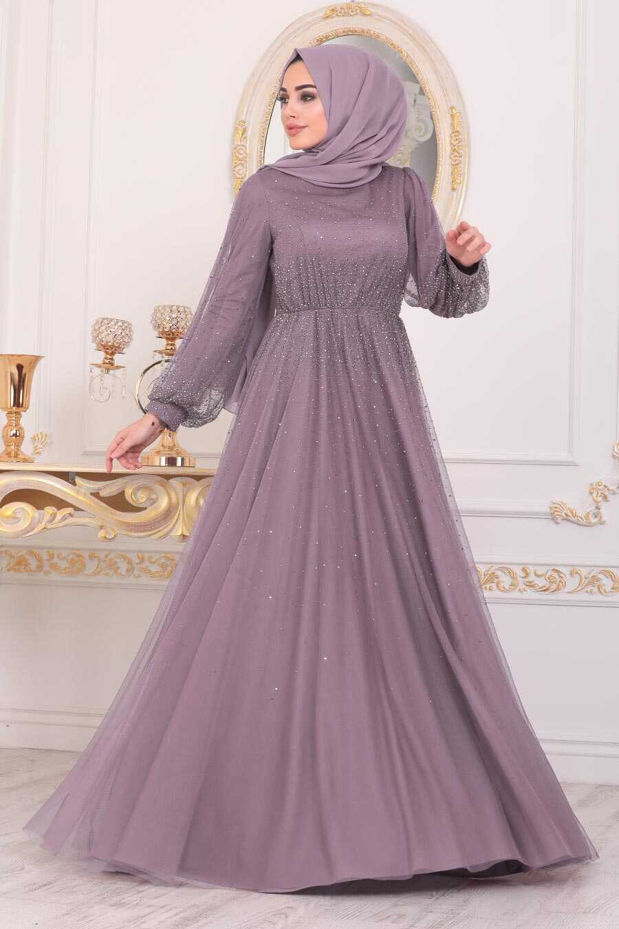 Lila Hijab Evening Dress 21501LILA