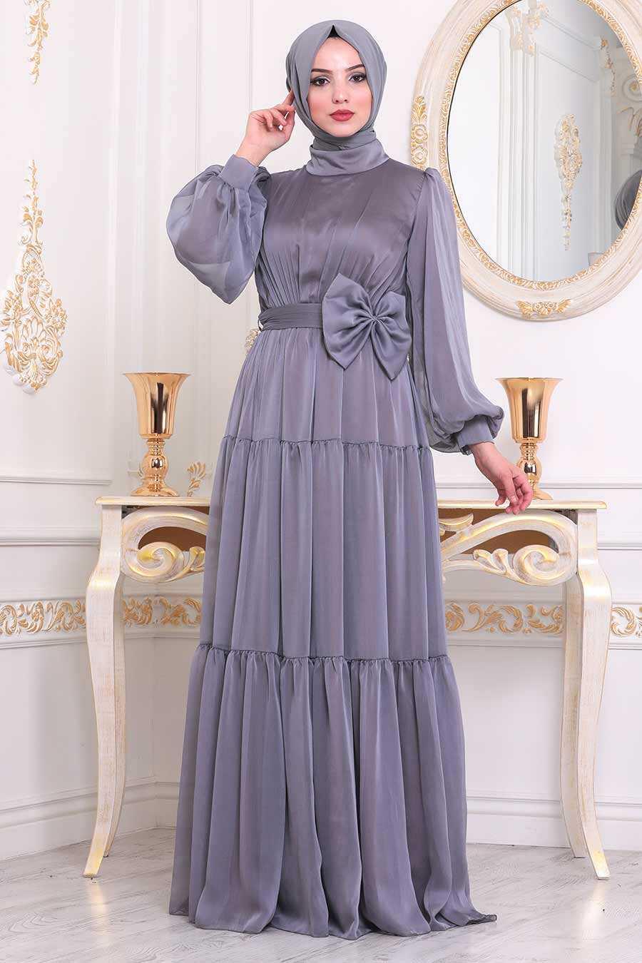 Lila Hijab Evening Dress 40690LILA