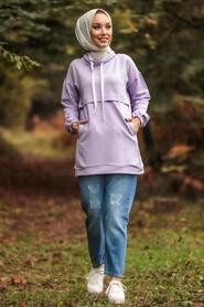 Lila Hijab Tunic 1385LILA - Thumbnail