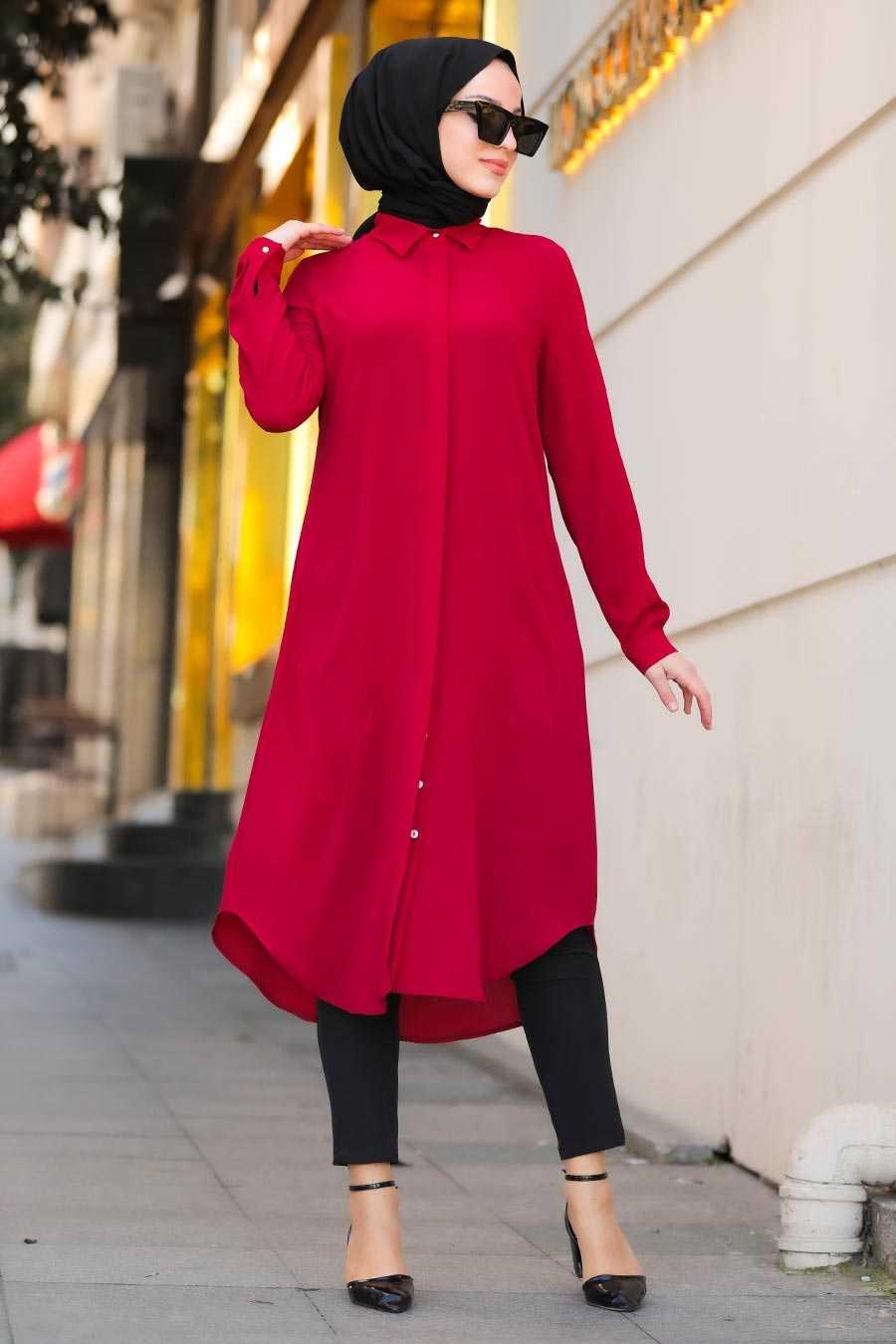 Mahogany Hijab Tunic 517BR