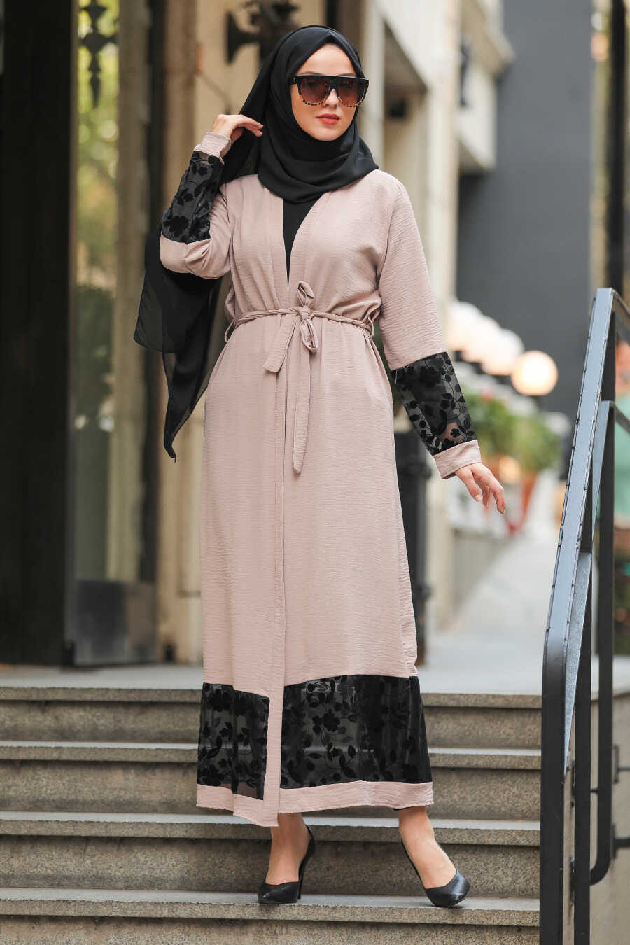 Mink Hijab Abaya Suit 221146V