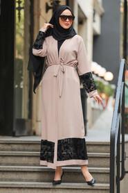 Mink Hijab Abaya Suit 221146V - Thumbnail