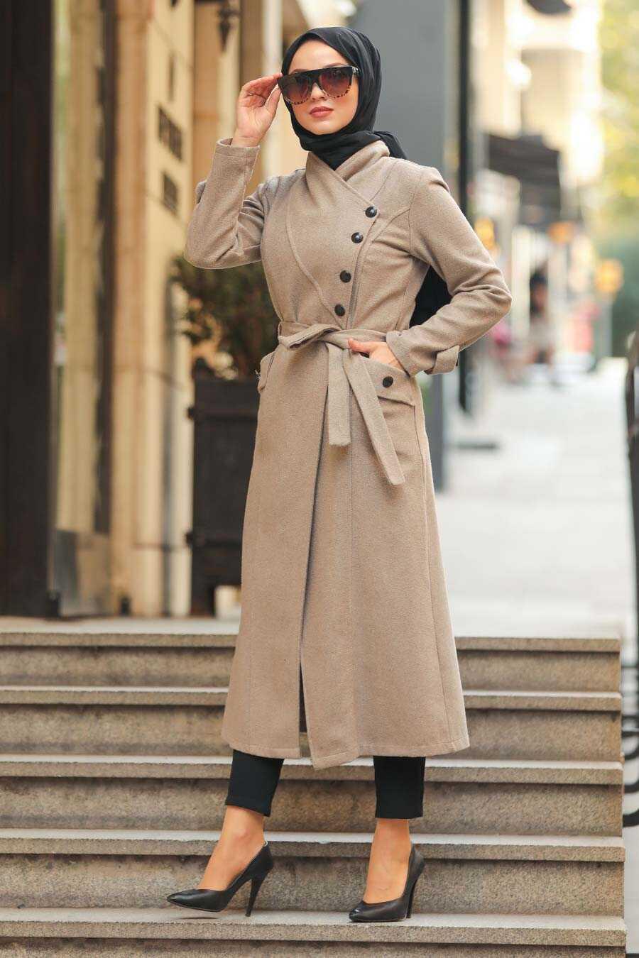 Mink Hijab Coat 5074V