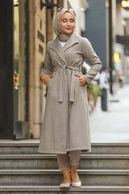 Mink Hijab Coat 5173V - Thumbnail