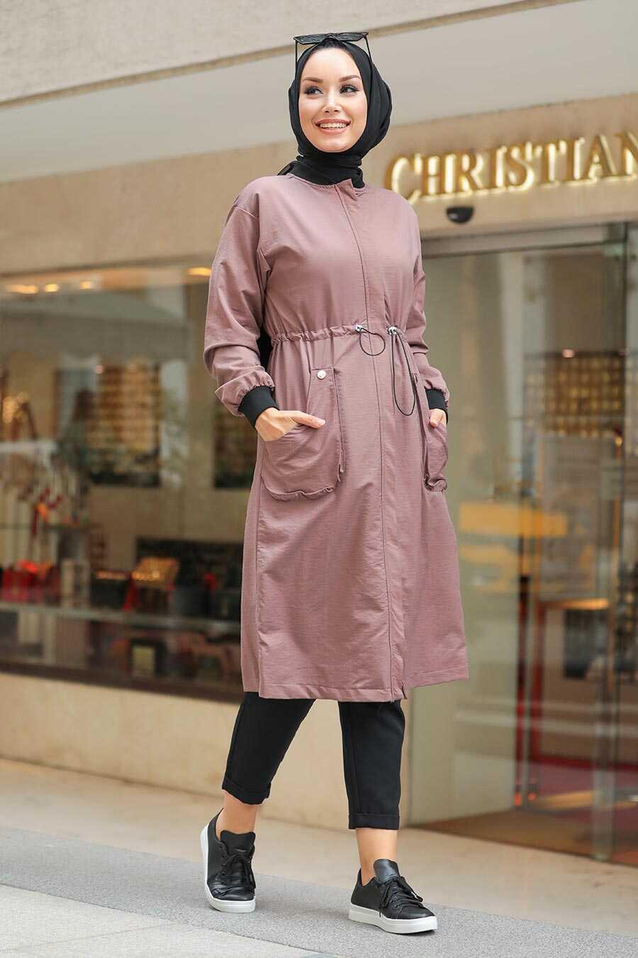 Mink Hijab Coat 8874V