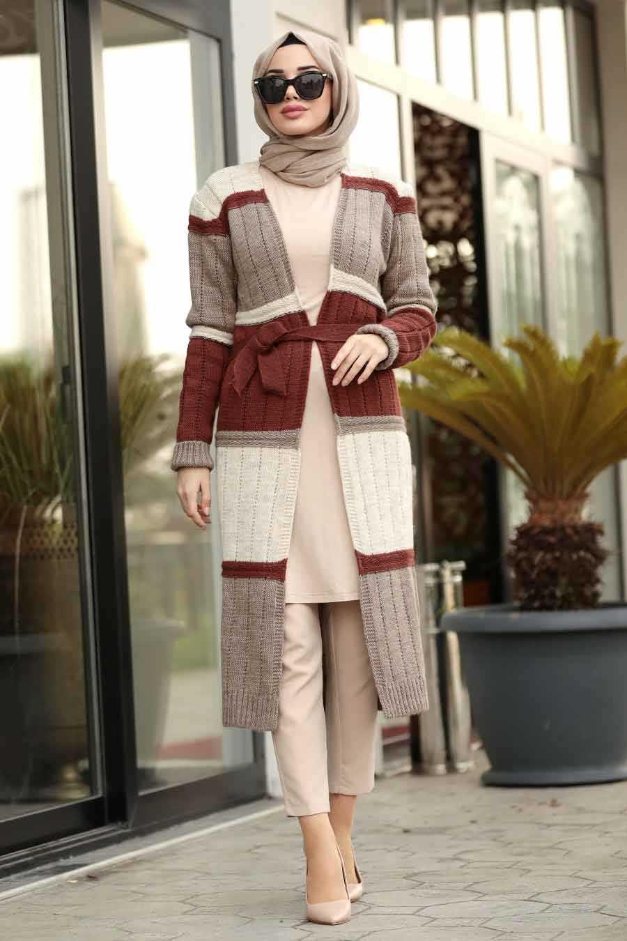 mink hijab knitwear cardigan 20141V