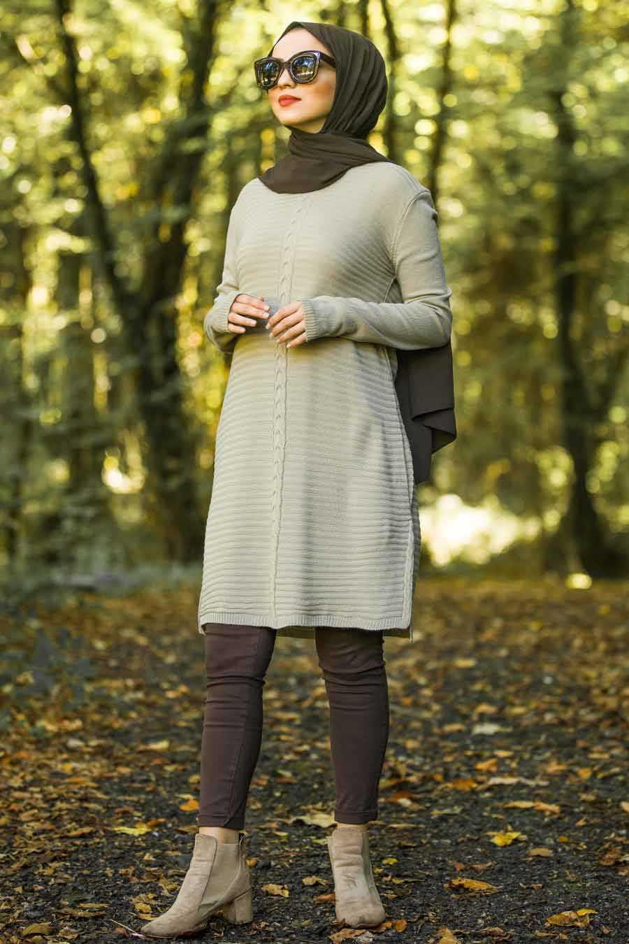 Mink Hijab Knitwear Tunic 2102V