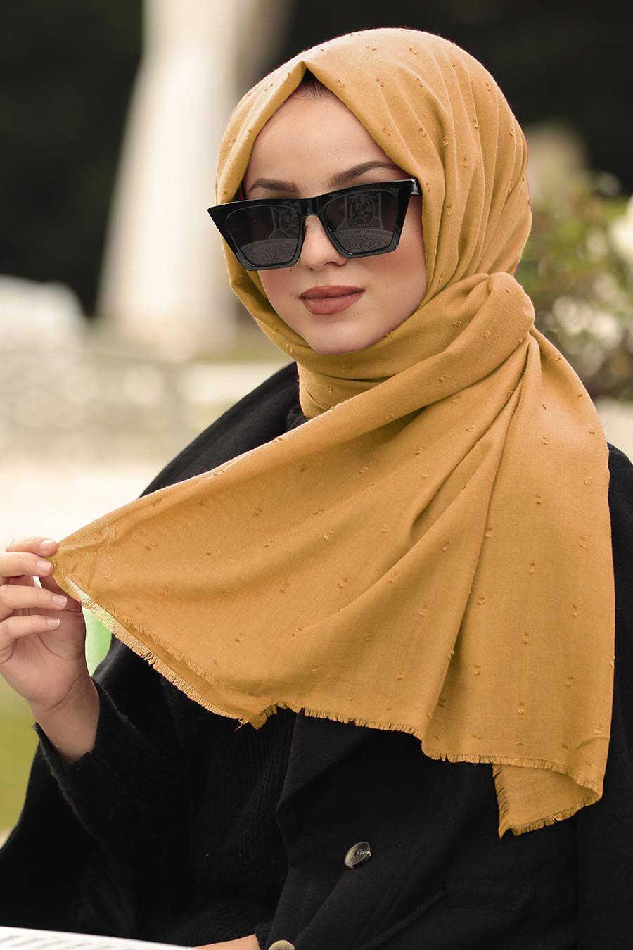 Mustard Hijab Shawl 7470HR
