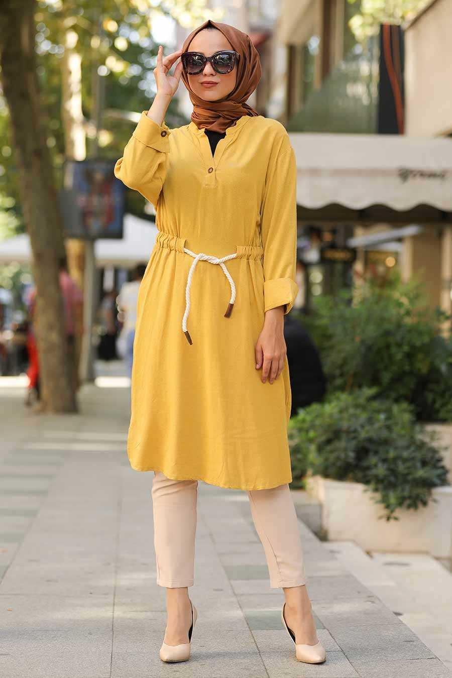 Mustard Hijab Tunic 1567HR
