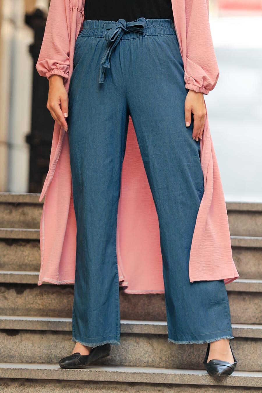Navy Blue Hijab Trousers 6469L