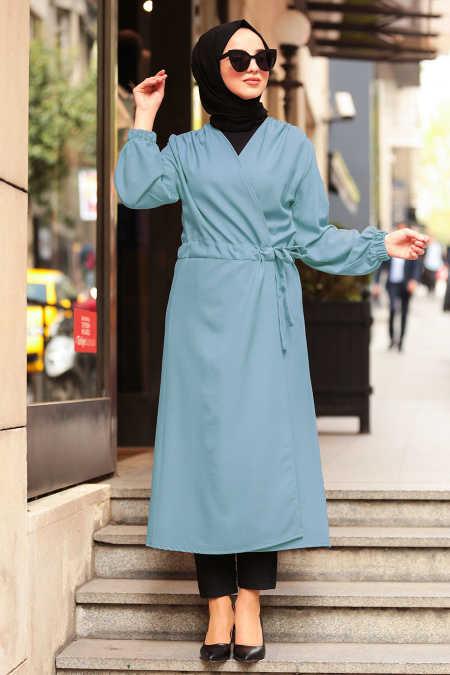 Neva Style - Blue Hijab Dress 5466M