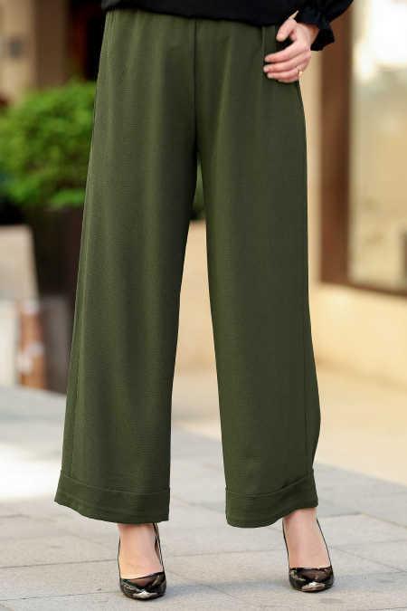 Yeşil Tesettür Pantolon 8122Y