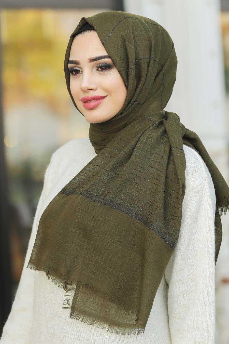 Neva Style - Kaki Shawl 7458HK
