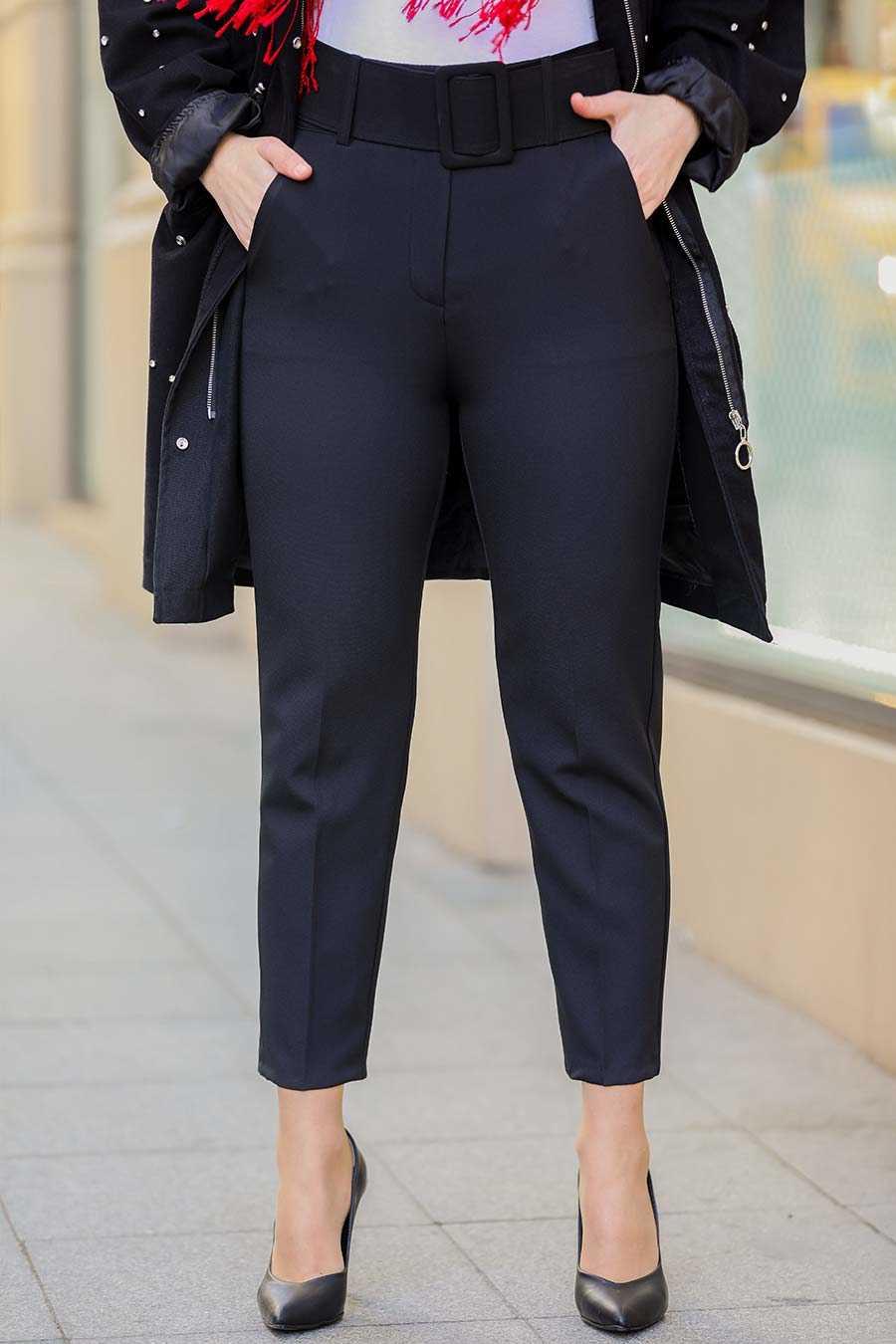 Neva Style - Siyah Tesettür Pantolon 1059S