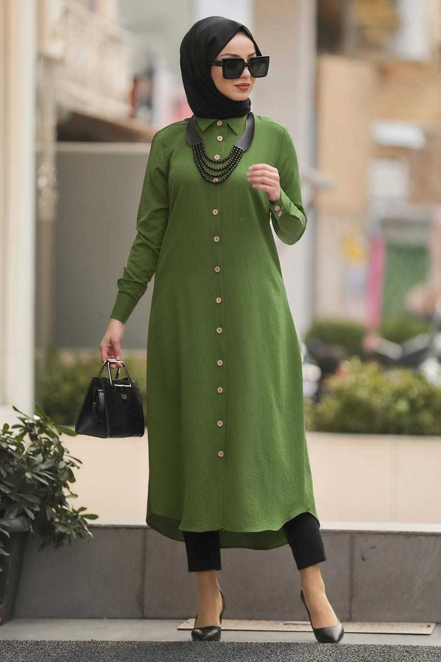 Pistachio Green Hijab Tunic 474FY