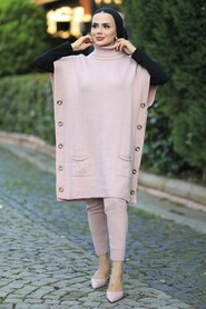Powder Pink Dual Suit Dress 7652PD - Thumbnail