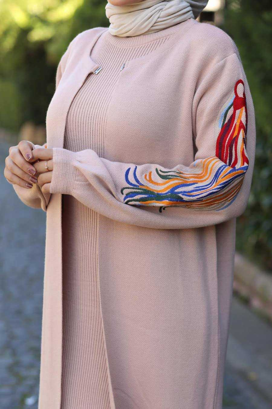 Powder Pink Hijab Dual Suit Dress 2200PD