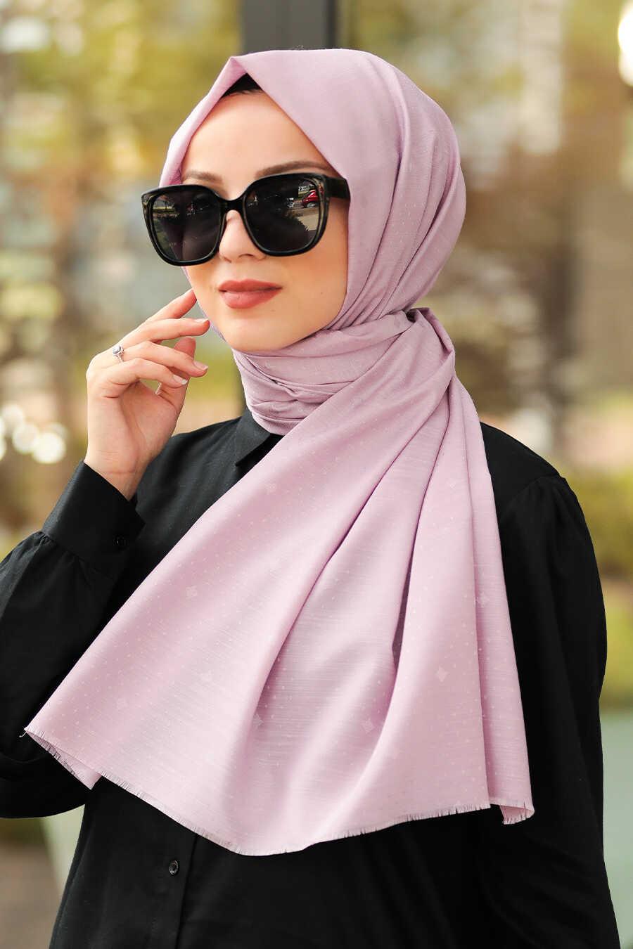 Powder Pink Hijab Shawl 7529PD