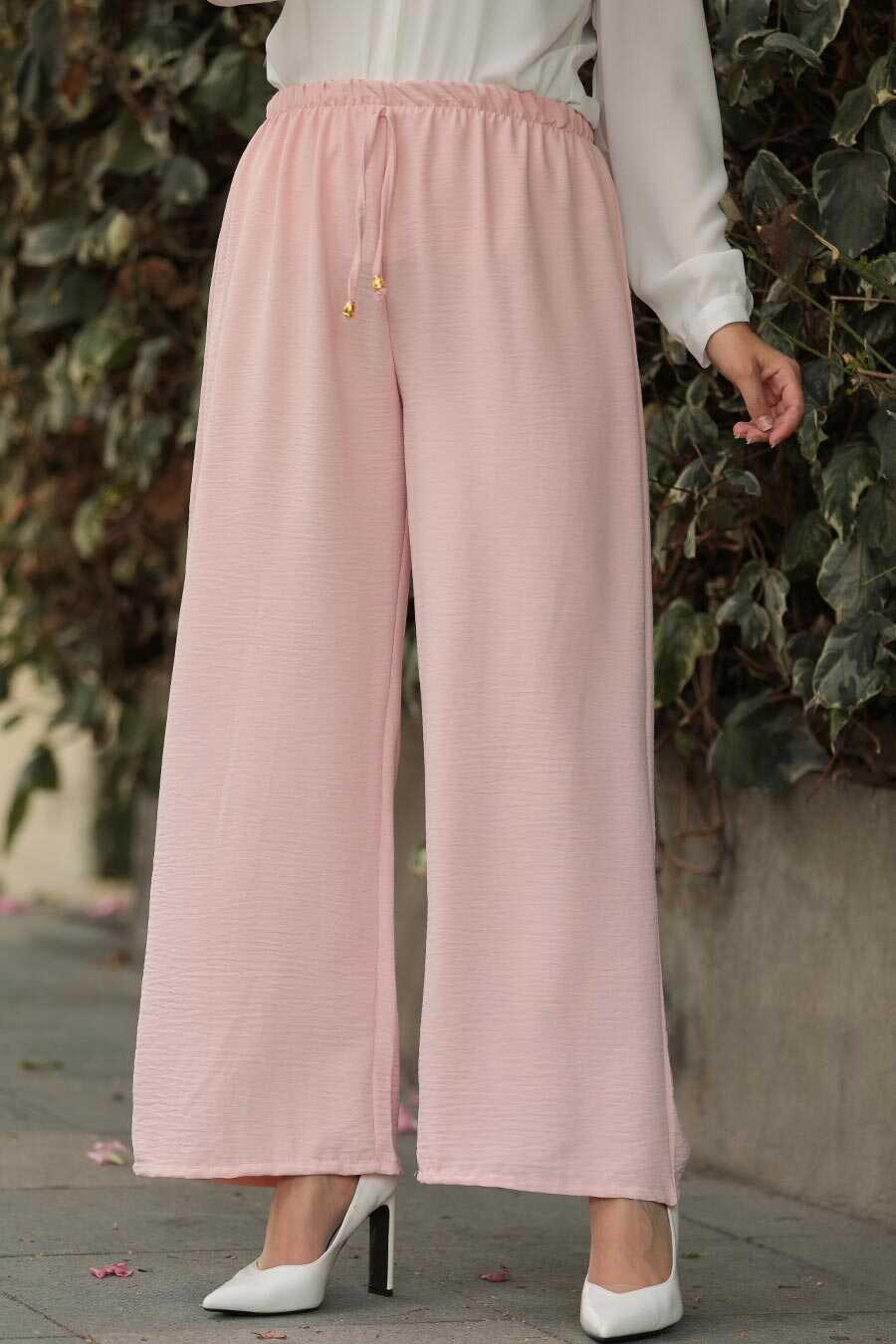 Powder Pink Hijab Trousers 1796PD