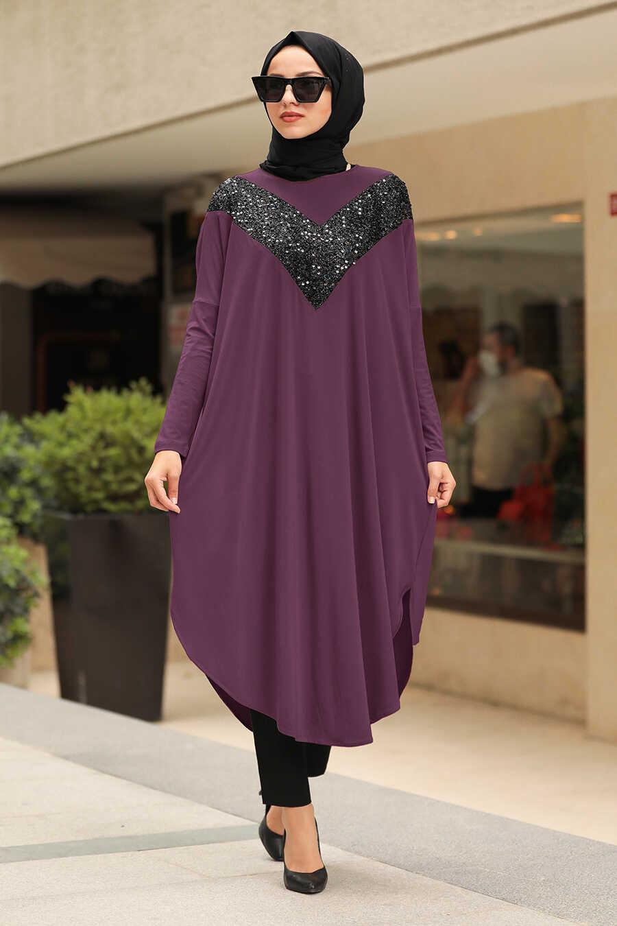 Purple Hijab Tunic 400010MOR