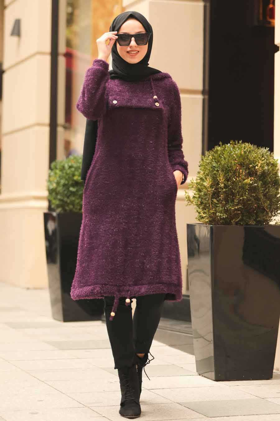 Purple Hijab Tunic 5969MOR