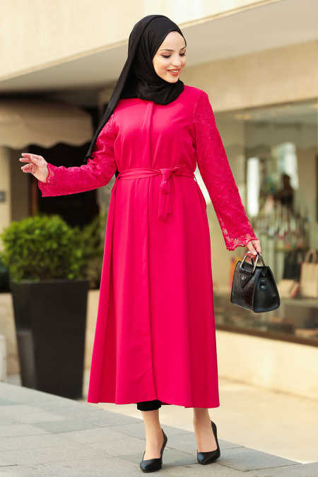 Red Hijab Coat 2356K