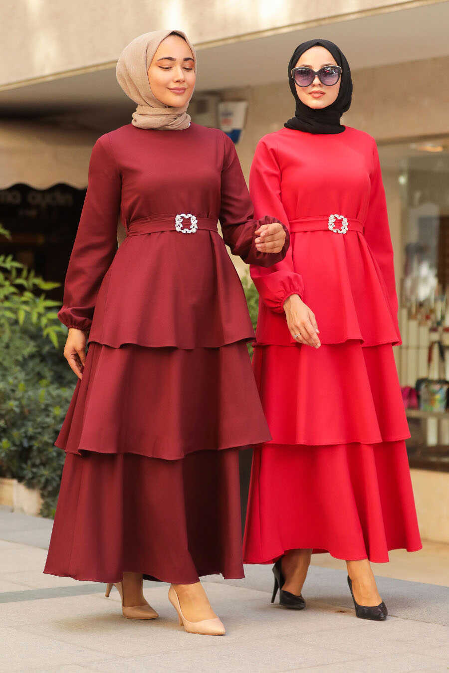 Red Hijab Dress 1283K